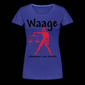 Sternzeichen Waage - Frauen Premium T-Shirt