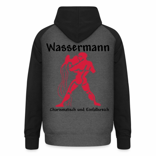 Sternzeichen Wassermann - Unisex Baseball Hoodie