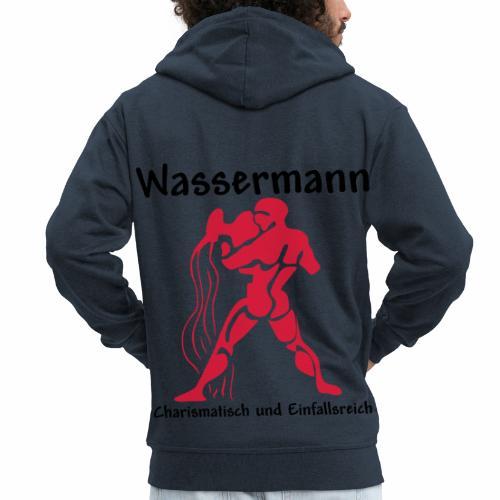 Sternzeichen Wassermann - Männer Premium Kapuzenjacke