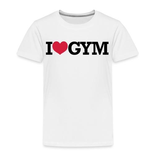 I Love Gym - Kinder Premium T-Shirt