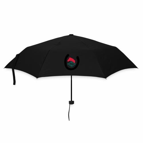 Cap schwarz Kaltblutpferde - Regenschirm (klein)