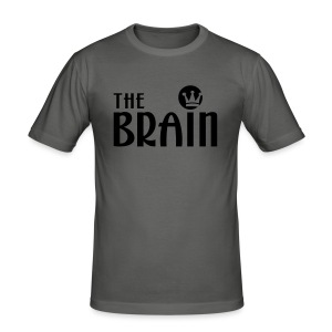 THE BRAIN - Männer Slim Fit T-Shirt