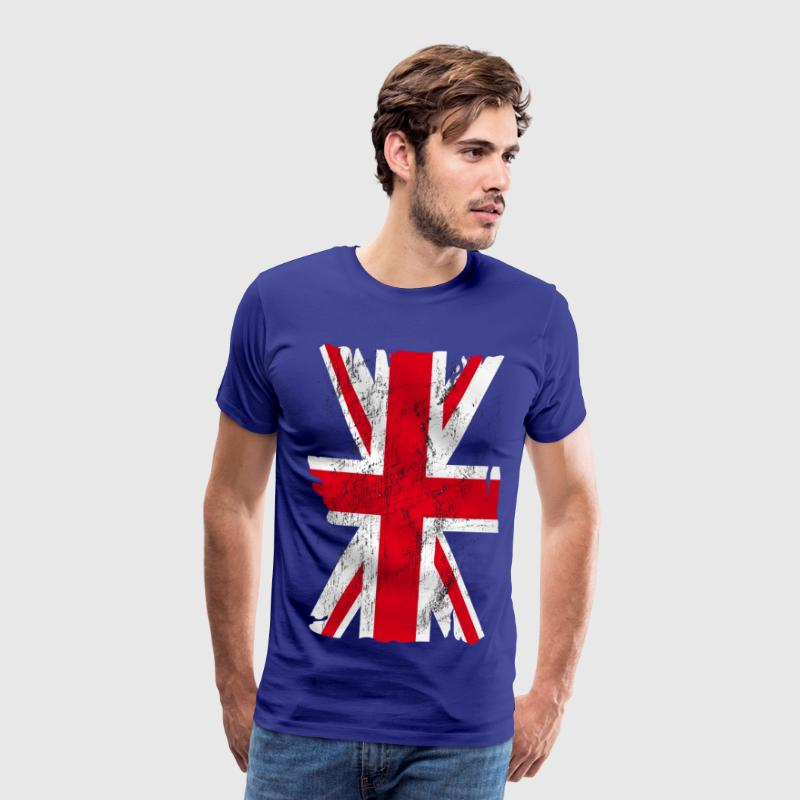 united kingdom grunge flag 02 T-Shirts - Men's Premium T-Shirt