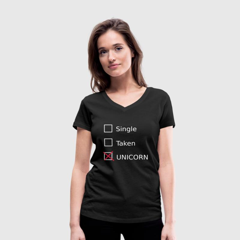 Single Taken Unicorn Tee shirts - T-shirt col V Femme