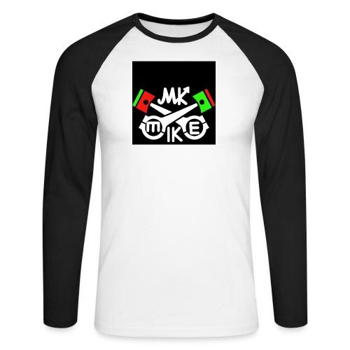 T-paita logolla - Miesten pitkähihainen baseballpaita