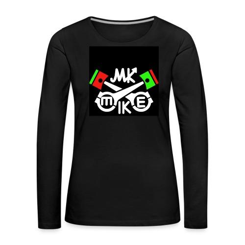 T-paita logolla - Naisten premium pitkähihainen t-paita