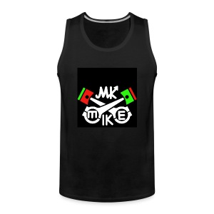 T-paita logolla - Miesten premium hihaton paita