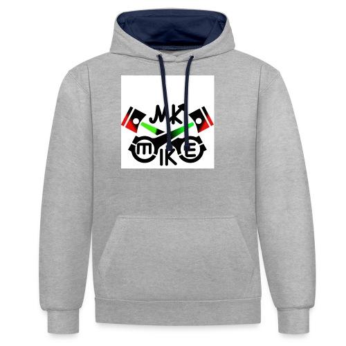 T-paita logolla - Kontrastihuppari