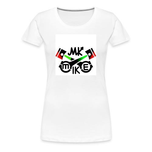 T-paita logolla - Naisten premium t-paita