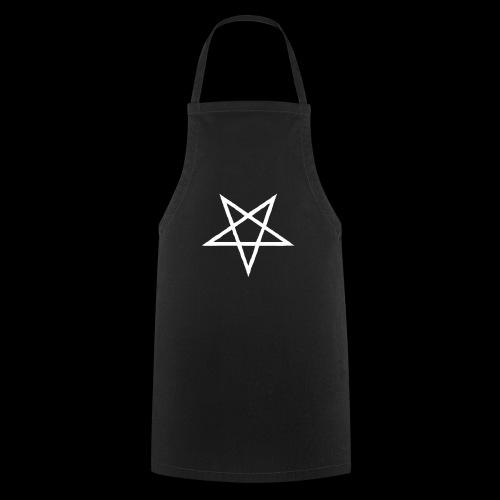 Tasse mit weißem Pentagram - Kochschürze