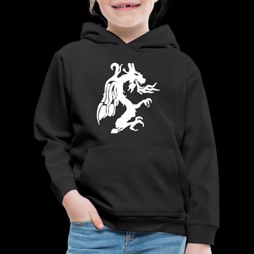 Tasse mit weißem Drachen - Kinder Premium Hoodie
