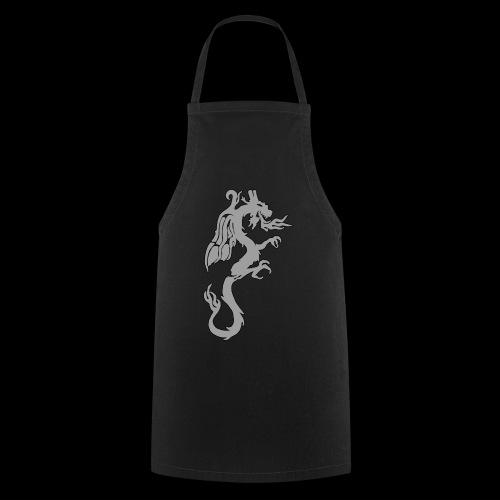 Tasse mit grauem Drachen - Kochschürze