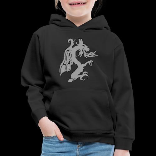 Tasse mit grauem Drachen - Kinder Premium Hoodie