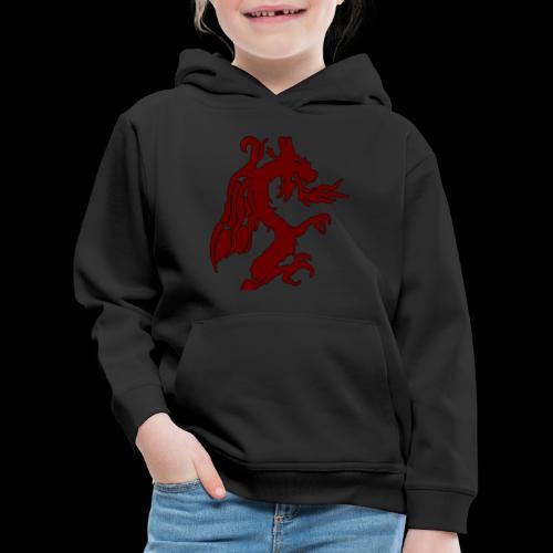 Tasse mit WF rotem Drachen - Kinder Premium Hoodie