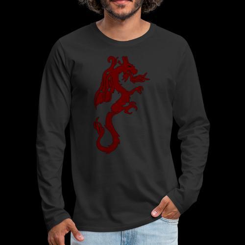 Tasse mit WF rotem Drachen - Männer Premium Langarmshirt