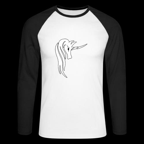 Tasse Unicorn - Männer Baseballshirt langarm