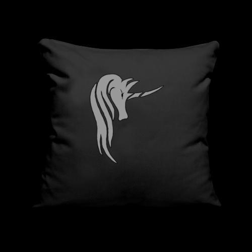 Tasse Unicorn in grau - Sofakissenbezug 44 x 44 cm