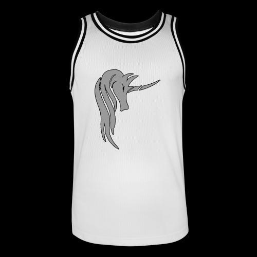 Tasse Unicorn in grau - Männer Basketball-Trikot