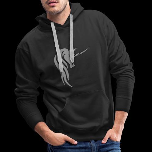 Tasse Unicorn in grau - Männer Premium Hoodie