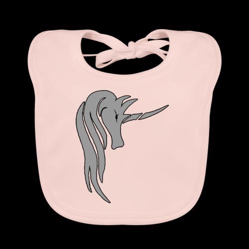Tasse Unicorn in grau - Baby Bio-Lätzchen