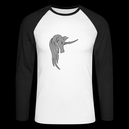 Tasse Unicorn in grau - Männer Baseballshirt langarm