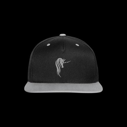 Tasse Unicorn in grau - Kontrast Snapback Cap