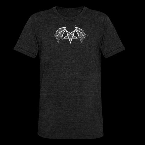 Tasse mit struktur Flügelpentagram hellgrau - Unisex Tri-Blend T-Shirt von Bella + Canvas
