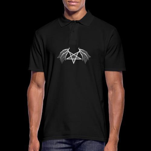 Tasse mit struktur Flügelpentagram hellgrau - Männer Poloshirt