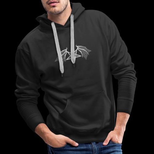 Tasse mit struktur Flügelpentagram hellgrau - Männer Premium Hoodie
