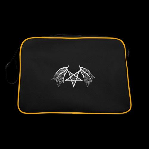Tasse mit struktur Flügelpentagram hellgrau - Retro Tasche