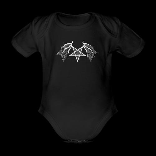 Tasse mit struktur Flügelpentagram hellgrau - Baby Bio-Kurzarm-Body