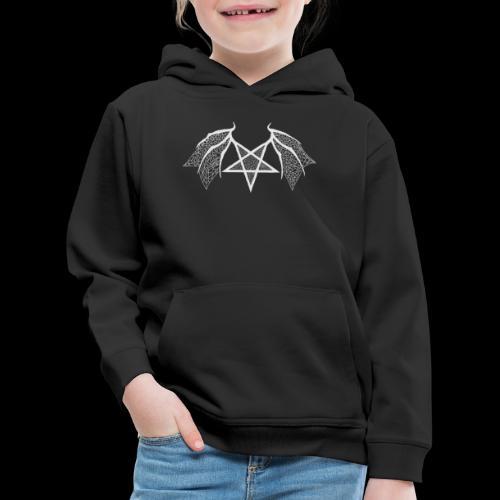 Tasse mit struktur Flügelpentagram hellgrau - Kinder Premium Hoodie
