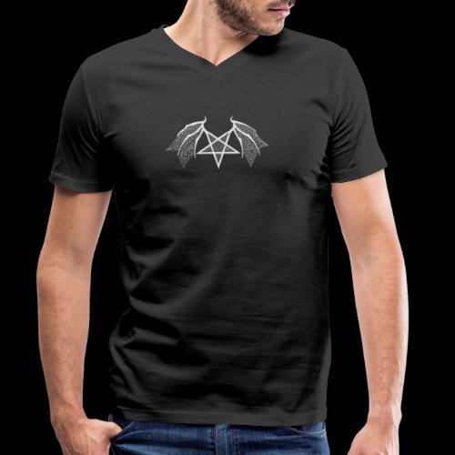 Tasse mit struktur Flügelpentagram hellgrau - Männer Bio-T-Shirt mit V-Ausschnitt von Stanley & Stella