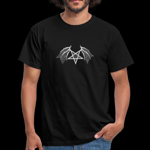 Tasse mit struktur Flügelpentagram hellgrau - Männer T-Shirt