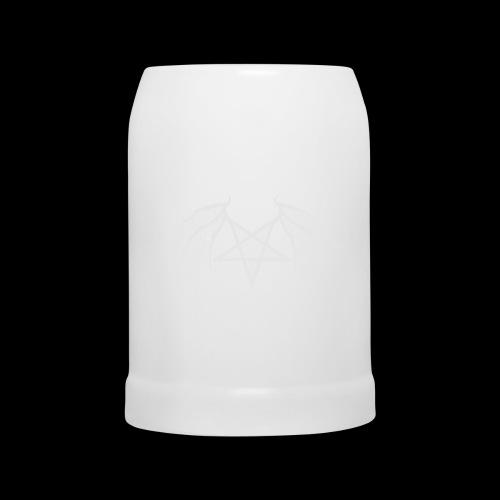 Tasse mit struktur Flügelpentagram hellgrau - Bierkrug