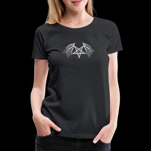 Tasse mit struktur Flügelpentagram hellgrau - Frauen Premium T-Shirt
