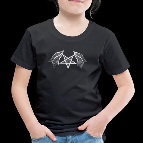 Tasse mit struktur Flügelpentagram hellgrau - Kinder Premium T-Shirt