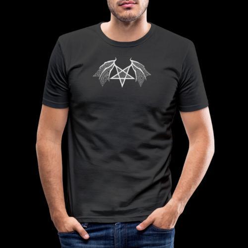 Tasse mit struktur Flügelpentagram hellgrau - Männer Slim Fit T-Shirt
