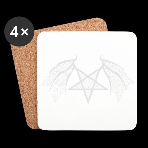 Tasse mit struktur Flügelpentagram hellgrau - Untersetzer (4er-Set)