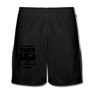 A Man needs a Shed - Men's Football shorts