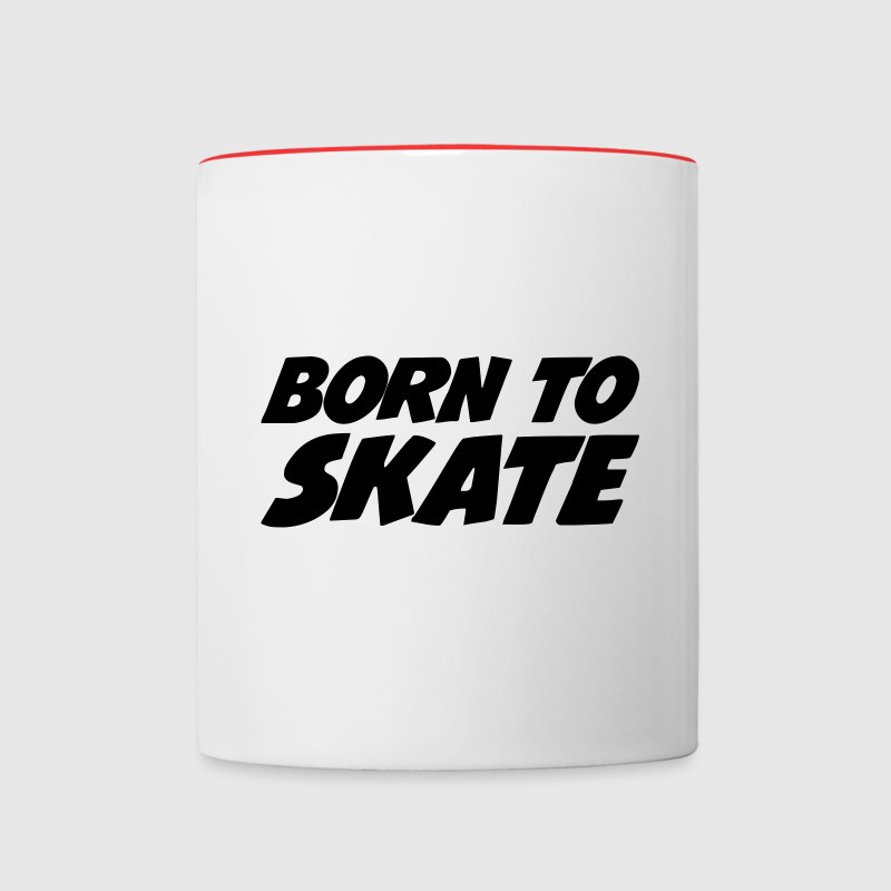 Born to Skate Bottles & Mugs - Contrasting Mug