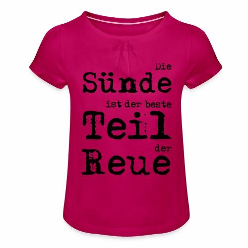 Die Sünde - Mädchen-T-Shirt mit Raffungen