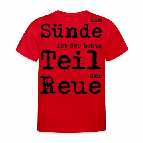 Die Sünde - Kinder T-Shirt