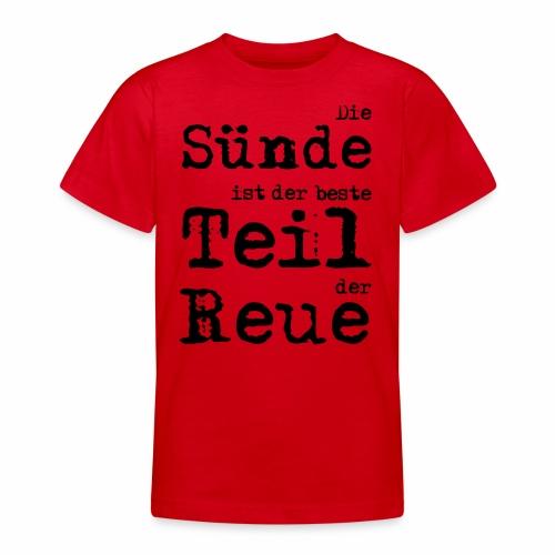 Die Sünde - Teenager T-Shirt