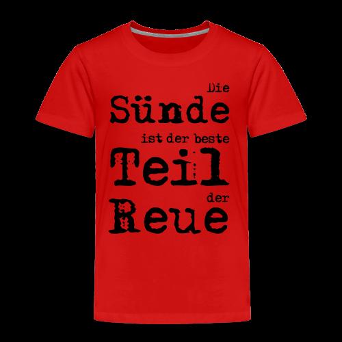 Die Sünde - Kinder Premium T-Shirt