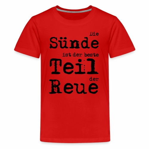 Die Sünde - Teenager Premium T-Shirt
