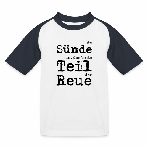 Die Sünde - Kinder Baseball T-Shirt