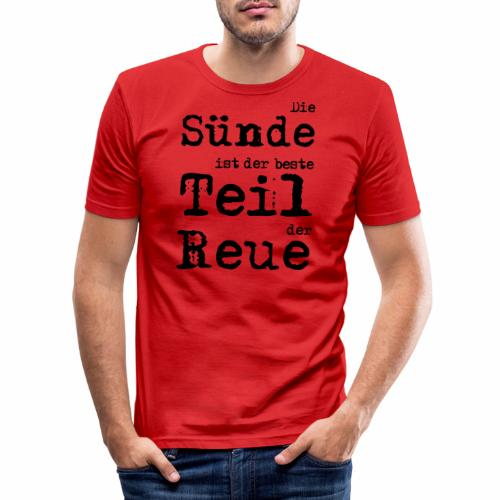 Die Sünde - Männer Slim Fit T-Shirt