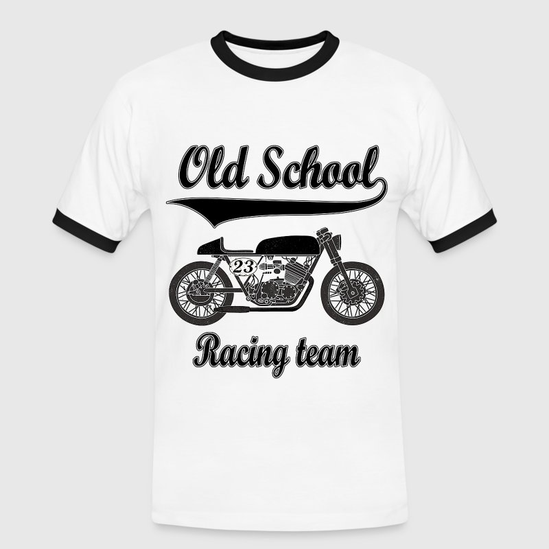 Old school motorcycles vintage team T-Shirts - Men's Ringer Shirt