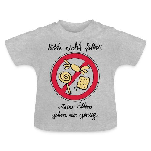 Bitte nicht füttern, Grau - Baby T-Shirt